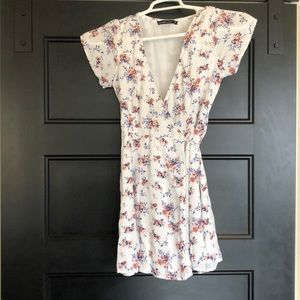 Abercrombie and Fitch floral wrap dress